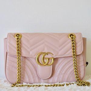 Handbags - Gucci 11 x 7 x 3 pink